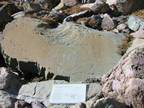 Vallée des merveilles, pierre gravée