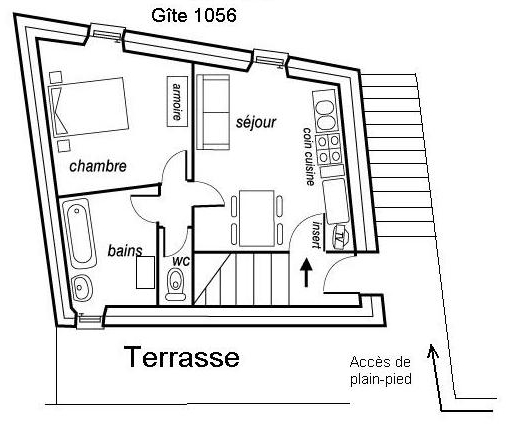 Plan du gîte 1056